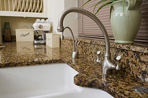 white undermount sink Granite kitchen GS Marble Ohio